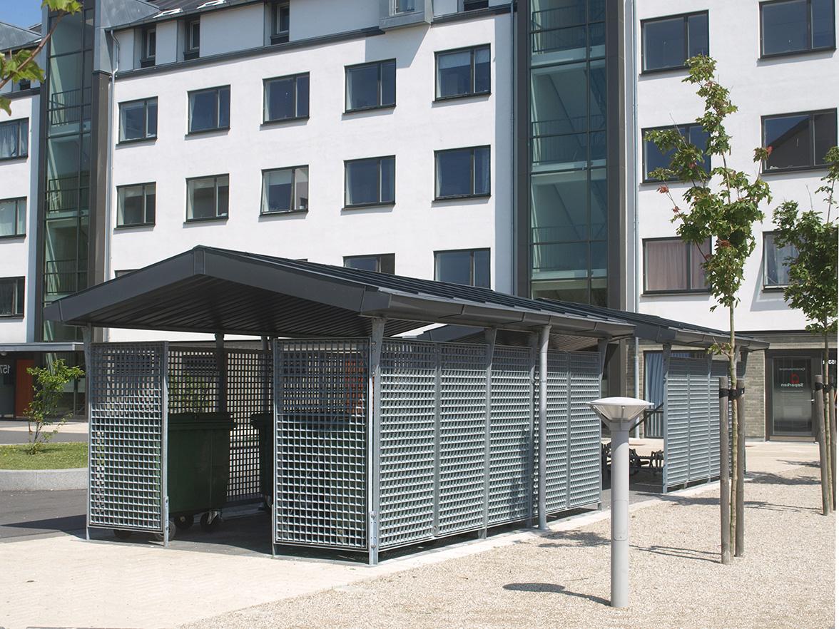 Miljøstation på Nyelandsvej i køge, model 13, affaldssortering